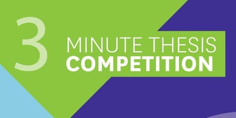 3 Minute Thesis: Faculty Heat tickets