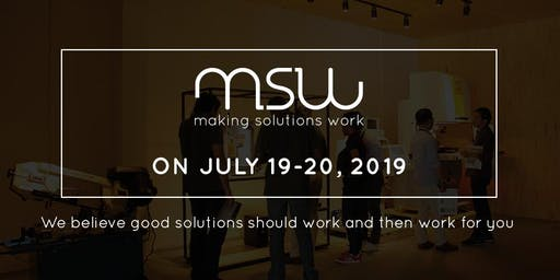 MSW - Making Solutions Work 2019