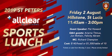 St Peters Sports Lunch 2019 tickets