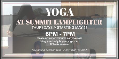 Yoga at Summit Lamplighter!  tickets