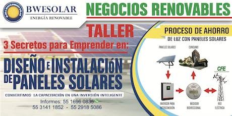 3 Secretos para Emprender con Celdas Solares tickets