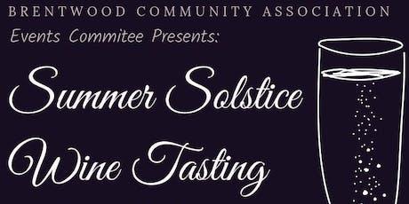 Summer Solstice Wine Tasting tickets