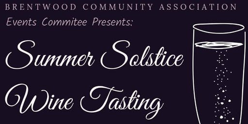 Summer Solstice Wine Tasting