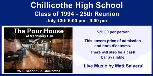 Chillicothe Class of 1994 - 25th Reunion