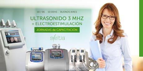 Ultrasonido 3 Mhz y Electroestimulación entradas