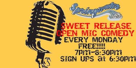 Sweet Release Open Mic Comedy Night - FREE! tickets
