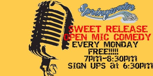 Sweet Release Open Mic Comedy Night - FREE!