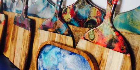 Make your own resin platter or cheeseboard tickets