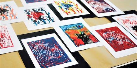 Lino printmaking workshop tickets