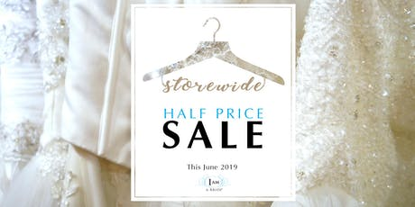 I AM A BRIDE® Wedding Gown Sale 2019 tickets