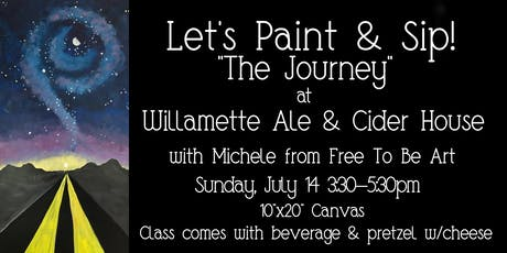 Paint & Sip 'The Journey' at Willamette Ale & Cider tickets