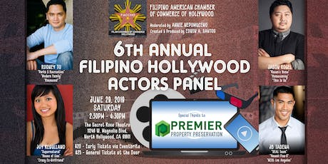 FACCHO's 6th Annual Filipino Hollywood Actors Panel & Networking Event tickets