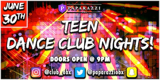 TEEN DANCE NIGHTS! At Paparazzi OBX!