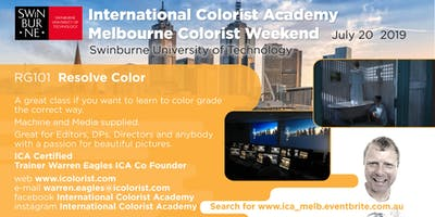 Melbourne ICA Colorist weekend
