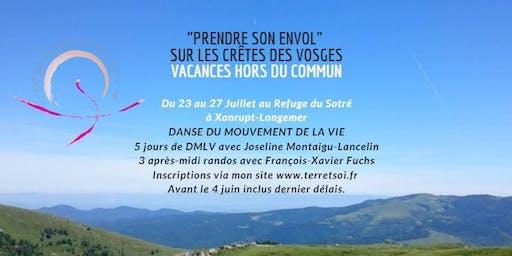 """""""Prendre son envol"""" sur les crêtes des Vosges Intensif de Danse du Mouvement de La Vie"""