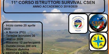 Corso per istruttori survival CSEN biglietti