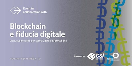 Italian Tech Week | Blockchain e fiducia digitale