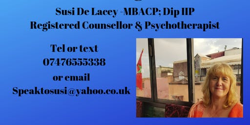SPEAK TO SUSI COUNSELLING APPOINTMENTS IN LLANELLI OR SWANSEA & ONLINE