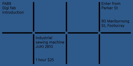 FAB9 Introduction to industrial sewing machine