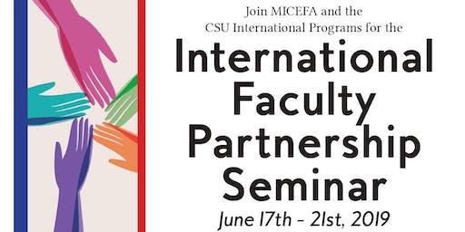 MICEFA & CSU - International Faculty Partnership Seminar à l'Université Paris Nanterre