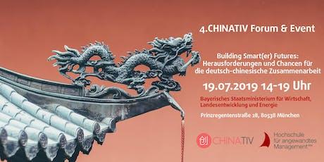 4. CHINATIV-Forum & Event: Building Smart(er) Futures: Herausforderungen und Chancen für die deutsch-chinesische Zusammenarbeit Tickets