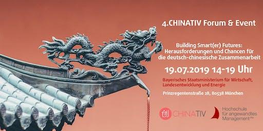4. CHINATIV-Forum & Event: Building Smart(er) Futures: Herausforderungen und Chancen für die deutsch-chinesische Zusammenarbeit