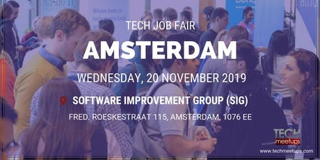 AMSTERDAM TECH JOB FAIR AUTUMN 2019 tickets