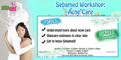 SEBAMED WORKSHOP: Dealing with oily & acne-prone skin tickets