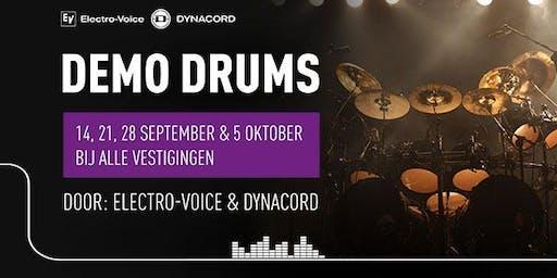 Demo Drums gebruiken met Electro-Voice & Dynacord