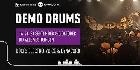 Demo Drums gebruiken met Electro-Voice & Dynacord tickets