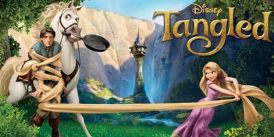 TANGLED (+ Pizza) with LIVE Rapunzel!