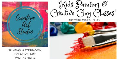 Kids Painting and Clay Art Workshop with Miss Shelley!