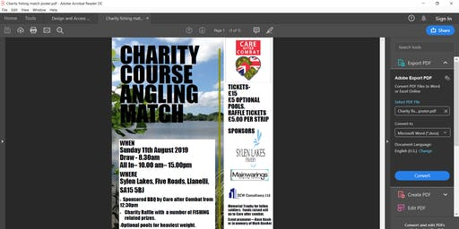 Charity Fishing Match in aid of Care after Combat