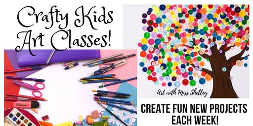 Sunday Crafty Kids Art Class with Miss Shelley: Ocean Art!