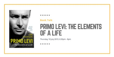 Book talk: Primo Levi: The Elements of a Life tickets