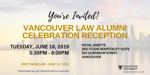 Vancouver Law Alumni Celebration Reception