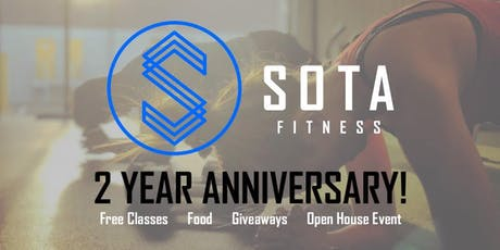 SOTA Fitness 2 Year Anniversary! tickets