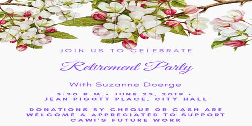 Retirement Party for Suzanne Doerge (Executive Director, City for All Women Initiative)