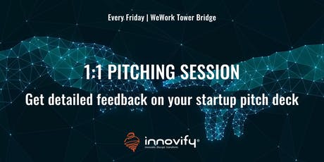 1-1 Pitching: Get detailed feedback on your pitch deck tickets