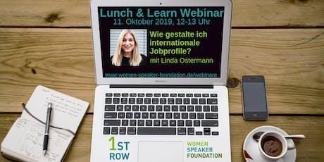 "Live-Webinar ""Internationale Jobprofile"" mit Linda Ostermann Tickets"