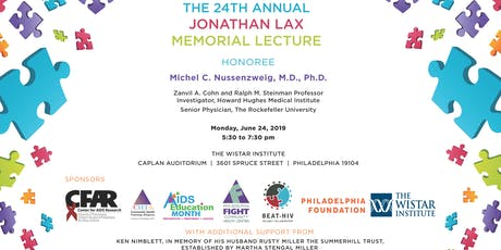 24th Annual Jonathan Lax Memorial Lecture: Discovery and Development of HIV Broadly Neutralizing Antibodies tickets