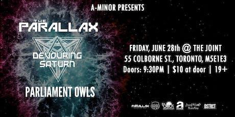 The Parallax w/ Devouring Saturn & Parliament Owls tickets