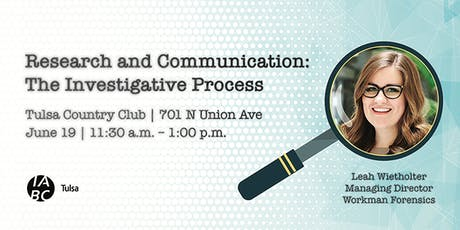 Research and Communication: The Investigative Process tickets