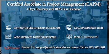 Certified Associate in Project Management (CAPM) 4-days Classroom in Knoxville tickets