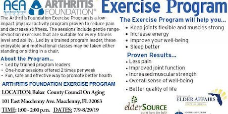 FREE Arthritis Exercise Program at Baker County Council On Aging  tickets