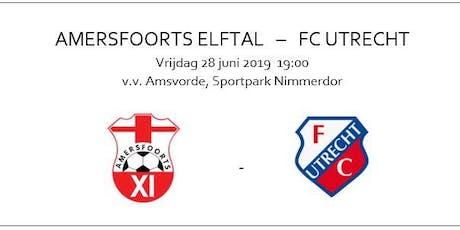 Amersfoorts Elftal - FC Utrecht   oefenwedstrijd 28 juni 2019 tickets