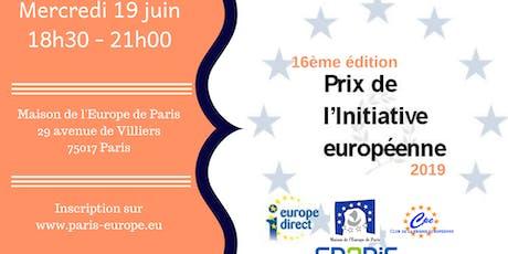 Prix de l'initiative européenne : 16ème édition billets