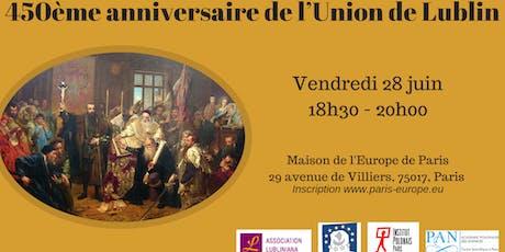 450ème anniversaire de l'Union de Lublin billets