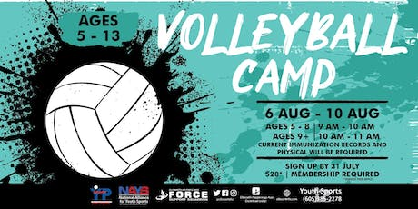 Volleyball Camp - EAFB Youth Sports tickets