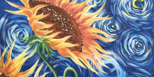 Sunflowers Brush Party - Witney